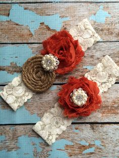Hey, I found this really awesome Etsy listing at https://www.etsy.com/listing/173922703/burnt-orange-burlap-garter-wedding