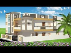 House elevations are two dimensional pictures of the façade of a house or interior features that have faces projecting from a flat, solid background, like ca. Duplex House Design, House Front Design, Building Elevation, House Elevation, Building Front, Building A House, Computer Basics, Architectural House Plans, Latest House Designs