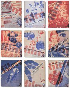 History Dutch Graphic Design, Piet Zwart  Monografieën over Filmkunstbook covers1931