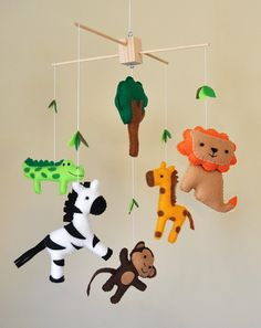 Hanging Jungle Safari Baby Mobile