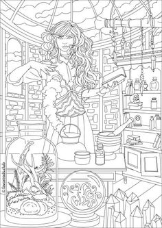 790 best Fantasy Coloring Pages for Adults images on Pinterest ...