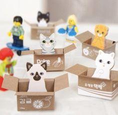 Free shipping - New Kawaii Carton Kitty Memo Pad ,Lovely cat sticky notes, notepad - Wholesale(30sets/lot)