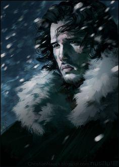 John Snow.  Art-Spire, Source d'inspiration artistique / 47 fantastiques fan art de Game of Thrones