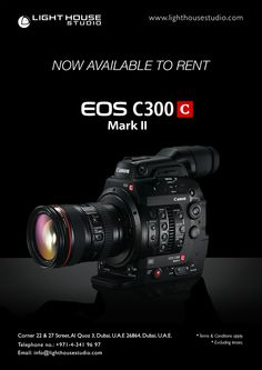 Newest Gear to hit Our Shelves  The Canon C300 Mark 2 NOW AVAILABLE FOR RENTAL!  PRODUCT HIGHLIGHTS  Price: AED 2,500 per day +10% Insurance For rental enquiries, Email us on: info@lighthouse.ae or Call us on: +9714 341 9697  #Canonc300 #canon Cinema Camera, T 4, Telephone, Lighthouse, Cameras, Dubai, Canon, Highlights, Conditioner