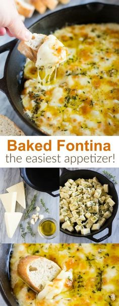 Baked Fontina Baked Fontina cheese dip inspired by Ina Garten, the Barefoot Contessa. An easy holiday appetizer made with Italian fontina cheese, olive oil, and fresh spices served with crusty french bread. via - Appetizers Cheese Appetizers, Appetizers For Party, Appetizer Recipes, Baked Cheese Dips, Italian Food Appetizers, Easy Holiday Appetizers, French Appetizers, Cold Appetizers, Appetizer Ideas