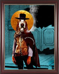 Clint Eastwood The Good The Bad and The Ugly. Fun Animal Portraits and Customizations. Pop Art Wall Art Picture Icon