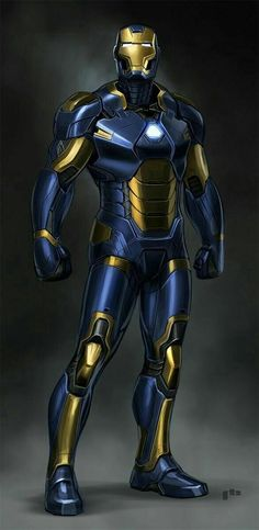 Blue n gold iron man Poster Superman, Posters Batman, Batman Vs, Spiderman, Superhero Villains, Marvel Characters, Marvel Dc Comics, Marvel Heroes, Captain Marvel