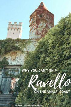 Why You Can't Skip Ravello on the Amalfi Coast – Aloha & Arrivederci Ravello Italy, Amalfi Coast Italy, Sorrento Italy, Italy Honeymoon, Italy Vacation, Italy Trip, Italy Travel Tips, Travel And Tourism, Rotterdam