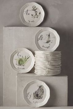 Linea Carta Calligrapher Canape Plate #anthrofave