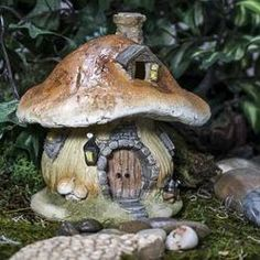 Charmingly detailed, this miniature mushroom cottage would make a wonderful decorative addition to flower beds, planters, and terrariums or simply display on a shelf. Surprise your garden-loving friend with the gift of magic and fairy possibilities. They do exist!