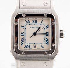 Cartier Men's Stainless Steel Santos Galbée Quartz Watch w/ Date Feature 1564 #Cartier #Casual