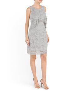 main image of Sleeveless Lace Dress