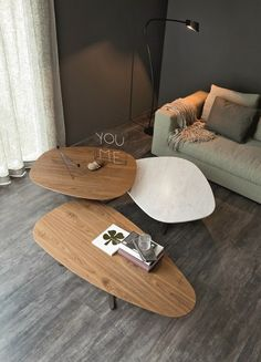 Steel and wood coffee table SAMBA by Cattelan Italia | #design Paolo Cattelan