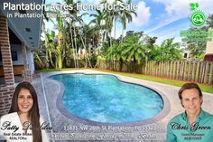 FOR SALE ~ Absolutely gorgeous Plantation Acres pool home has been completely remodeled. For photos & info http://greenrealtyproperties.com/profiles/blogs/gorgeous-plantation-acres-fl-pool-home-for-sale Call 954-667-7253