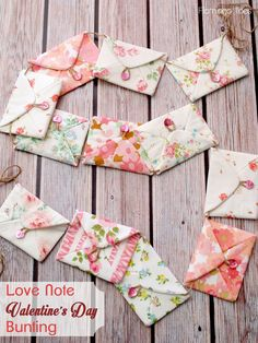 Love Note Valentine's Day Bunting… So cute!