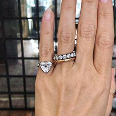 this is a pinky POWER ring it's a thing you know. for girl power The Bling Ring, One Ring, Bling Bling, Diamond Bands, Diamond Heart, Diamond Are A Girls Best Friend, Jewelry Accessories, Jewelry Trends, Diamond Engagement Rings