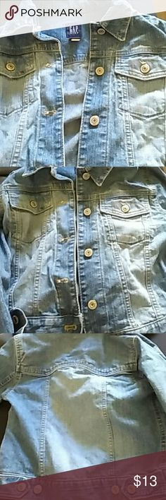 Gap girls jean jacket Faded Denim size m 7-8 GAP Jackets & Coats Jean Jackets