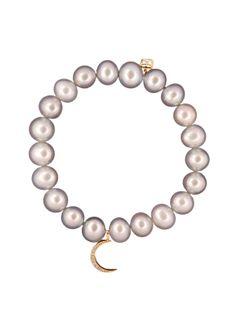 Sydney Evan 14k Pearl and Crescent Bracelet