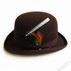 Mens Womens Brown Winter Wool Dress Derby Hats Church Wedding SKU-159033 44b49e4b7b80