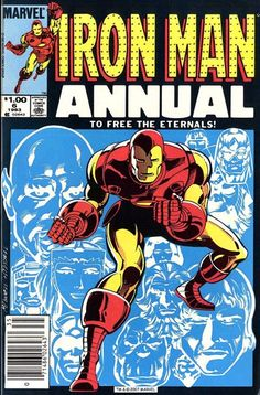 Iron Man Annual #6 : cover by Luke McDonnell (1983).