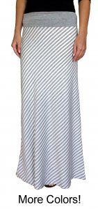 Striped Jersey Maxi Skirt
