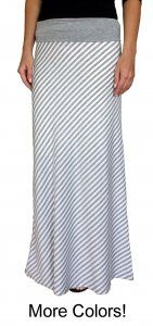 Striped Jersey Maxi Skirt