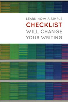 This checklist really helped me get out of my own way -- and write!