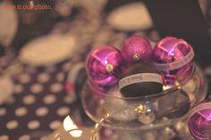 DIY christmas ornament ball wedding favor