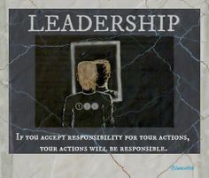 Do you age that sense of responsibility? Can you handle the spotlight and transparency? #leadership #ethics #progress