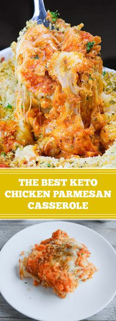 ★★★★★ 43 reviews:The Best Keto Chicken Parmesan Casserole | This Keto Chicken Parmesan Casserole is a super easy dinner recipe that's bursting with savory, flavorful, cheesy, tomatoey flavor! Your whole family will love it, and you'll love how simple it is to put together! #Keto #Chicken #Parmesan #Casserole #Recipe | amazingrecipes.xyz