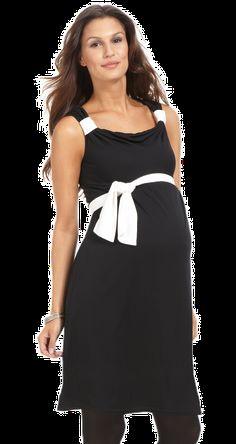 robe de grossesse soirée noire et blanche