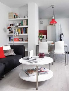 small-apartment_  In only 40 meters he created a kitchen, dining room, living room, bedroom and bathroom.     Read more: http://www.stylisheve.com/very-small-apartment-design-ideas/#ixzz2ADo1uruu