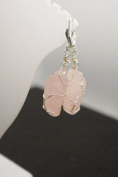 Hand Wrap, Crystal Pendant, Beautiful Necklaces, Rose Quartz, Wire Wrapping, Pendants, Jewels, Stone, Crystals