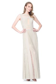 Guest of a Wedding Dress - Lace and Crochet Collage Gown with Inset Detail | Tadashi Shoji