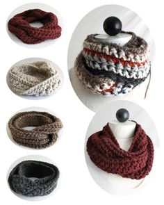 Maggie's Crochet · 30-Minute Infinity Scarves Crochet Patterns #crochet #pattern #infinity #scarf #cute #warm #fashionable