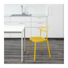 REIDAR Chair, in/outdoor - yellow - IKEA