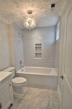 Small bathroom ideas with bathtub shower combo- Small bathroom ideas with ., Small bathroom ideas with bathtub shower combo- Small bathroom ideas with bathtub shower combo Mini bathtubs and mini bathtub battery combinations als. Mini Bathtub, Bathtub Shower Combo, Shower With Tub, Bathroom Tub Shower, Bath Tub Tile Ideas, Bathtub Tile, Shower Tile Designs, Grey Tile Shower, Tile Around Bathtub