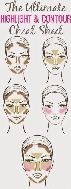 52 Trendy Makeup Hacks Beauty Secrets Make Up How To Contour Makeup Tips Contouring, Face Contouring, Highlighter Makeup, Makeup Tricks, Contour Makeup, Contouring And Highlighting, Skin Makeup, Concealer, Makeup Ideas