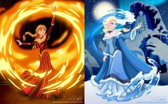 Sister benders!! Frozen crossover avatar -- this would be awesome!!! Frozen 2, please? Maybe? Hello....?