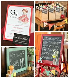 Adorable! Vintage Alphabet Schoolhouse themed baby shower via Kara's Party Ideas KarasPartyIdeas.com Printables, cake, decor, invitation, cupcakes, and more! #alphabetparty #vintageschool #genderneutralbabyshower #babyshower