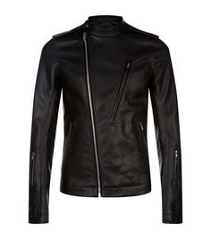 Rick Owens Asymmetric Biker Jacket available to buy at Harrods.