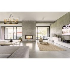 What Are The Characteristics Of Modern House Design? - Preferred Homes What are the characteristics of modern house design? - Preferred Homes modernist house design - Modernist House European House, Home Wallpaper, Fireplace Design, Tv Fireplace, Concrete Fireplace, Concrete Floors In House, Double Fireplace, Custom Fireplace, Cement Walls