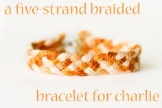 DMC Perle Cotton Five Stranded Braid Bracelet - Tutorial by flax & twine