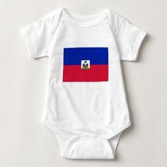 #Flag Of Haiti Baby Bodysuit - #travel #clothing
