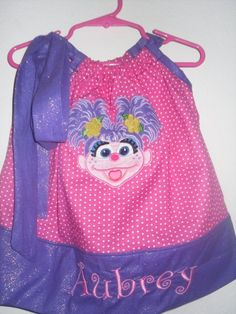 abby cadabby pillow case dress by BEDAZZLED11 on Etsy, $18.00