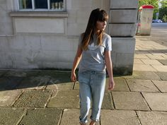 Sports luxe look: Adidas tee, boyfriend jeans and strappy heels