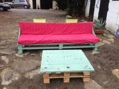 Pallets garden set    #Bench, #Garden, #Pallets, #Table by Steamatic