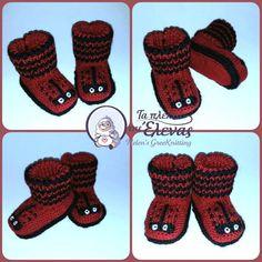 Χειροποίητα πλεκτά με βελόνες παπουτσάκια αγκαλιάς Gloves, Winter, Fashion, Winter Time, Moda, Fashion Styles, Fashion Illustrations, Winter Fashion