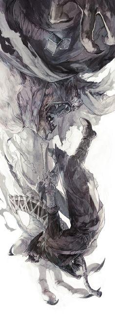 Bloodborne The Old Hunters, Bloodborne / ブラボまとめ / August 2015 - pixiv Fantasy Kunst, Fantasy Art, Dark Fantasy, Arte Dark Souls, Desu Desu, Bloodborne Art, Soul Art, The Villain, Fan Art