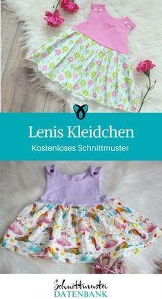 Lenis Kleidchen Kinderkleid Nähideen für Kinder kostenlose Schnittmuster Gratis-Nähanleitung